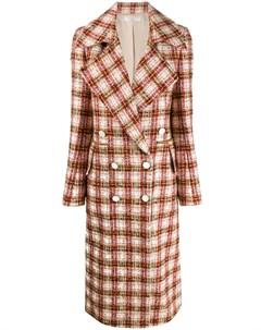 твидовое двубортное пальто Victoria beckham