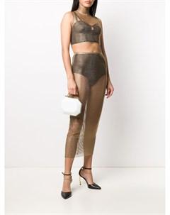 Декорированная юбка миди Alessandra rich