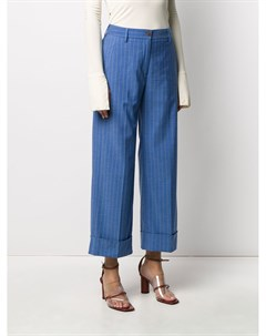 Полосатые брюки с подворотами Brag-wette