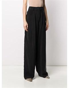 Расклешенные брюки с завышенной талией Maison flaneur