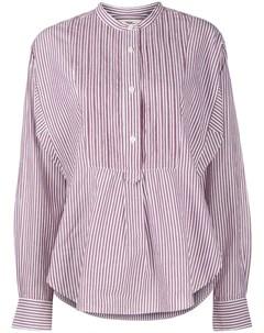 Рубашка в полоску с плиссировкой Isabel marant etoile