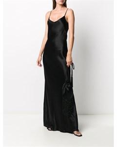 Атласное платье комбинация Galvan