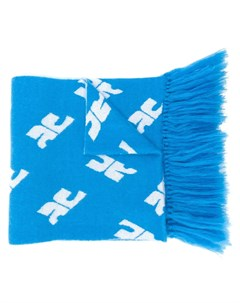 объемный шарф с монограммой Courreges