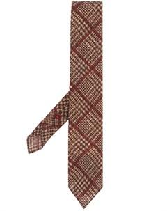 галстук в клетку глен Dell'oglio