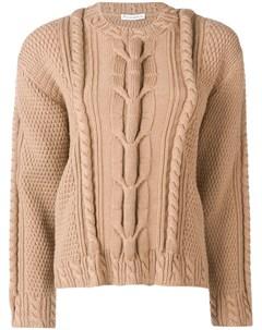 вязаный свитер с узором косы Jw anderson