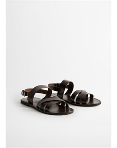 Кожаные сандалии с ремешками Mallorca Mango