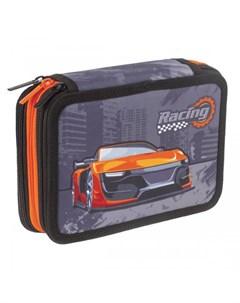 Пенал Racing 3 отделения 20 5x14 см Brauberg