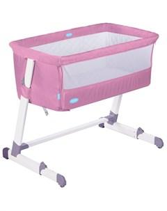 Детская приставная кроватка Accanto розовая Nuovita