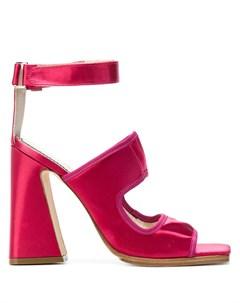 босоножки на высоком массивном каблуке Nicole saldaña