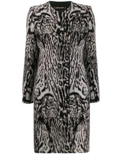 пальто с леопардовым принтом Roberto cavalli