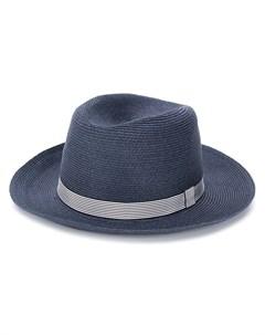 шляпа федора в полоску Loro piana