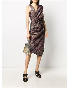 Платье с абстрактным принтом и сборками Vivienne westwood red label