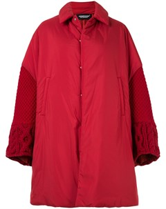 комбинированное пальто оверсайз Undercover