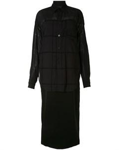 Многослойное платье рубашка Y's
