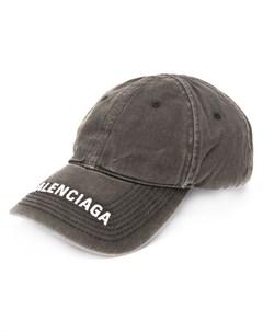 джинсовая кепка с вышитым логотипом Balenciaga