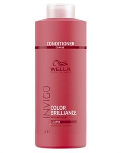 Бальзам уход для защиты цвета окрашенных жестких волос Brilliance 1000 мл Wella professionals