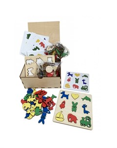 Деревянная игрушка Умный сортер с карточками Эврилэнд