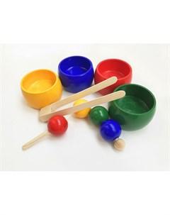 Деревянная игрушка Шнуровка сортер 4 цвета Эврилэнд