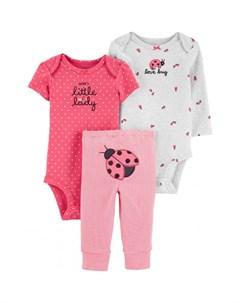 Комплект для девочки полукомбинезон боди брюки 1I951010 Carter`s