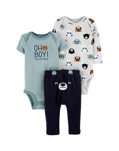 Комплект для мальчика брюки боди 2 шт 1I728710 Carter`s