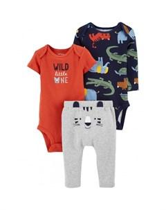 Комплект для мальчика полукомбинезон боди брюки Carter`s