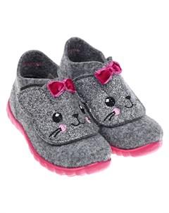 Тапочки из войлока на розовой подошве детские Superfit