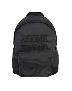 Черный рюкзак с логотипом 44х30х14 см детский Stone island
