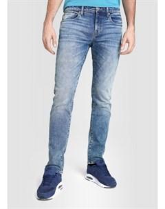 Синие зауженные винтажные джинсы Ostin