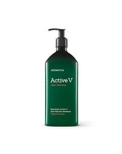 Шампунь против выпадения волос с розмарином aromatica rosemary active v anti hair loss shampoo Aromatica