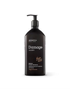 Бессульфатный протеиновый шампунь с киноа для поврежденных волос aromatica quinoa protein shampoo Aromatica
