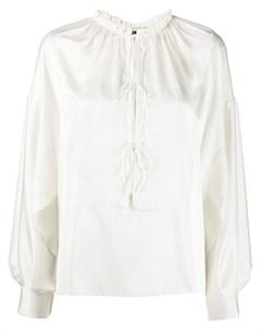 блузка с длинными рукавами и шнуровкой Maison rabih kayrouz