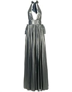 Вечернее платье с вырезом петлей халтер Maria lucia hohan