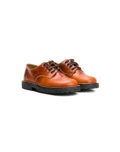 туфли на шнуровке с закругленным носком Pépé kids