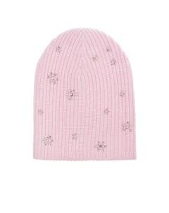 Розовая шапка с кристаллами SWAROVSKI William sharp