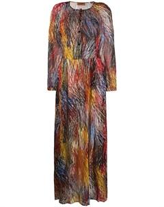 расклешенное платье с графичным принтом Missoni