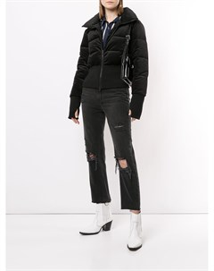 Куртка пуховик с перчатками митенками Unreal fur