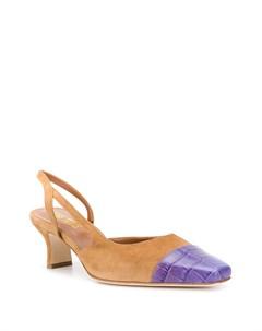 туфли с ремешком на пятке и контрастным носком Paris texas