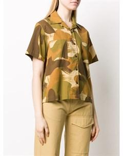 Рубашка с эффектом разбрызганной краски Ymc