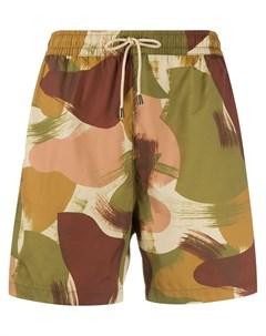 плавки шорты с камуфляжным принтом Ymc
