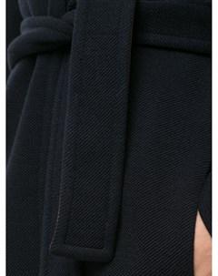 Пальто с контрастной подкладкой и поясом Paule ka