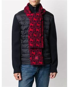 Вязаный шарф с логотипом Moncler