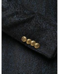 Однобортный пиджак с узором шеврон Gabriele pasini