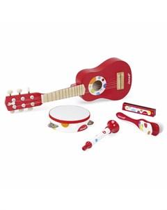 Набор красных музыкальных инструментов Janod