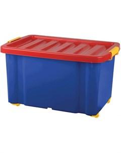 Ящик для хранения игрушек с крышкой Jumbo 60 л Plast team