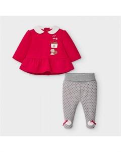 Newborn Комплект для девочки ползунки и фуфайка 2551 Mayoral