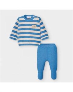 Newborn Комплект для мальчика ползунки и фуфайка 2554 Mayoral