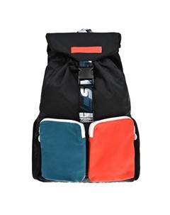 Черный рюкзак с цветными карманами 25x38x11 см детский Stella mccartney