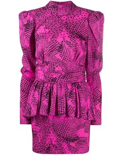 Платье с абстрактным принтом Alessandra rich