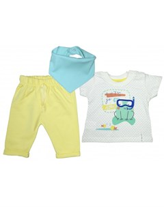 Комплект для мальчика футболка бриджи косынка MW13850 Mini world