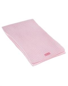 Розовый шарф из шерсти и кашемира детский Emporio armani